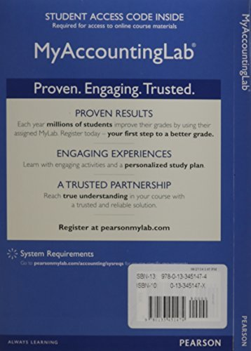 COST ACCOUNTING EBOOK W NEW MYACCOUNTINGLAB The Co Op Store