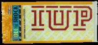Decal, Outside Application, IUP Logo