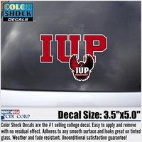 Decal, Outside Application, IUP Block Letters & Full Hawk Logo