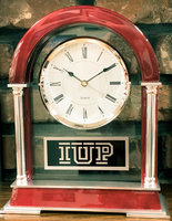 Clock, Mantle Style, Arched, IUP Logo