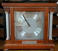 Clock, Mantle Style, Wooden, IUP Logo & Full Name