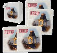 Coaster Set, Sutton Hall & IUP Logo, 4 Pack