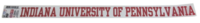 Decal Strip, Outside Application, IUP Full Name