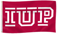 Flag, Crimson, IUP Logo