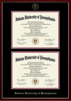 Church Hill Classics #6, Double Diploma, Gold Embossed Seal, Black & Crimson Mats
