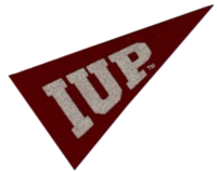 Magnet, Mini Crimson Pennant, IUP