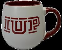 Mug, IUP Logo, Crimson & White