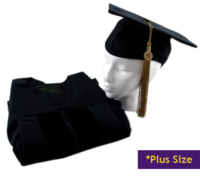 """DOCTORAL GOWN 5'0""""-5'2"""" PLUS"""