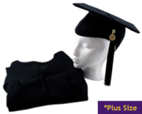"""MASTERS GOWN 6'0""""-6'2"""" PLUS"""