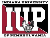 DIZZLER STICKER WITH IUP FULL NAME AND IUP FULL HAWK