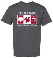 TSHIRT CHARCOAL WITH THE OAK GROVE, SQUIRREL, & INDIANA UNIVERSITY OF PENNSYLVANIA