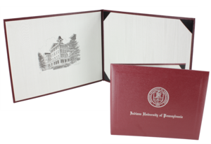 Diploma Cover, Maroon with IUP Seal