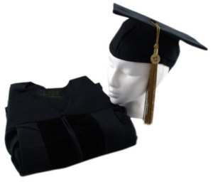 Doctoral Cap, Gown, and Tassel