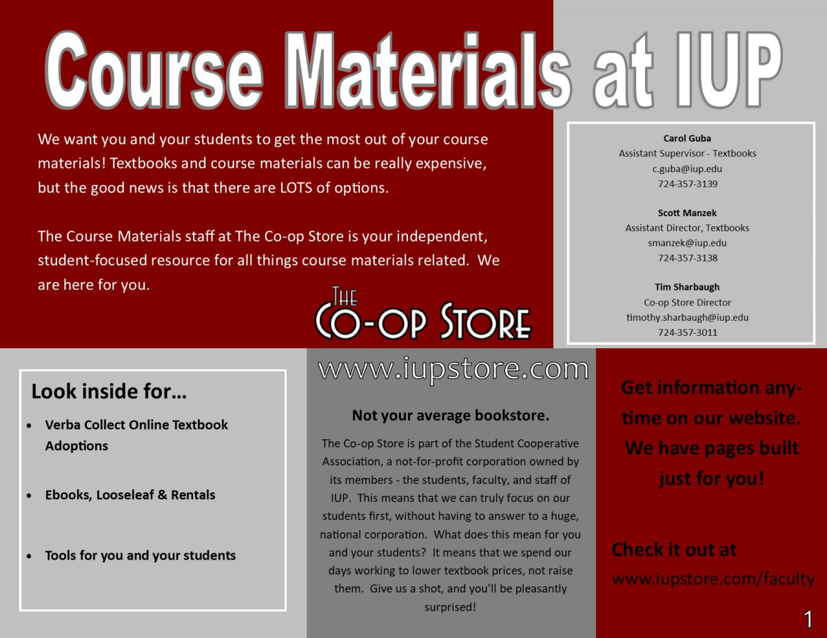 Faculty Course Materials Guide